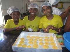 Bahia Street girls learn how to prepare food.
